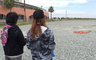 ドローン女子 ドローンパークマリーナ河芸.JPG